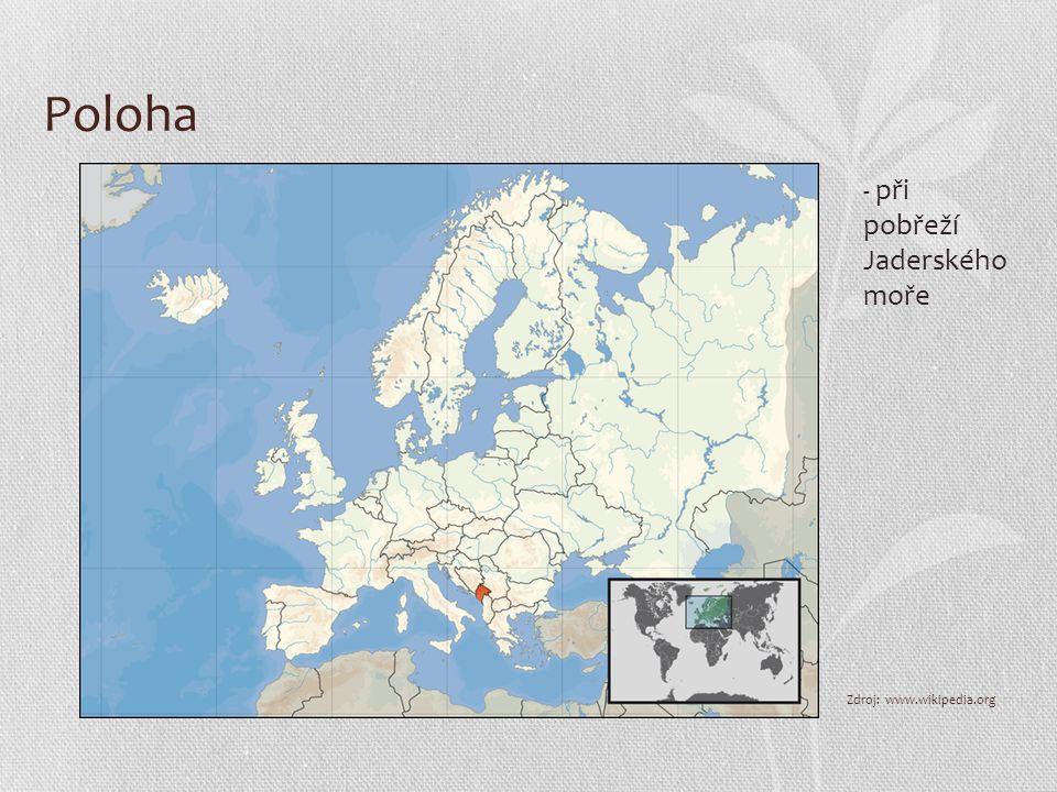 Poloha - při pobřeží Jaderského moře Zdroj: www.wikipedia.org