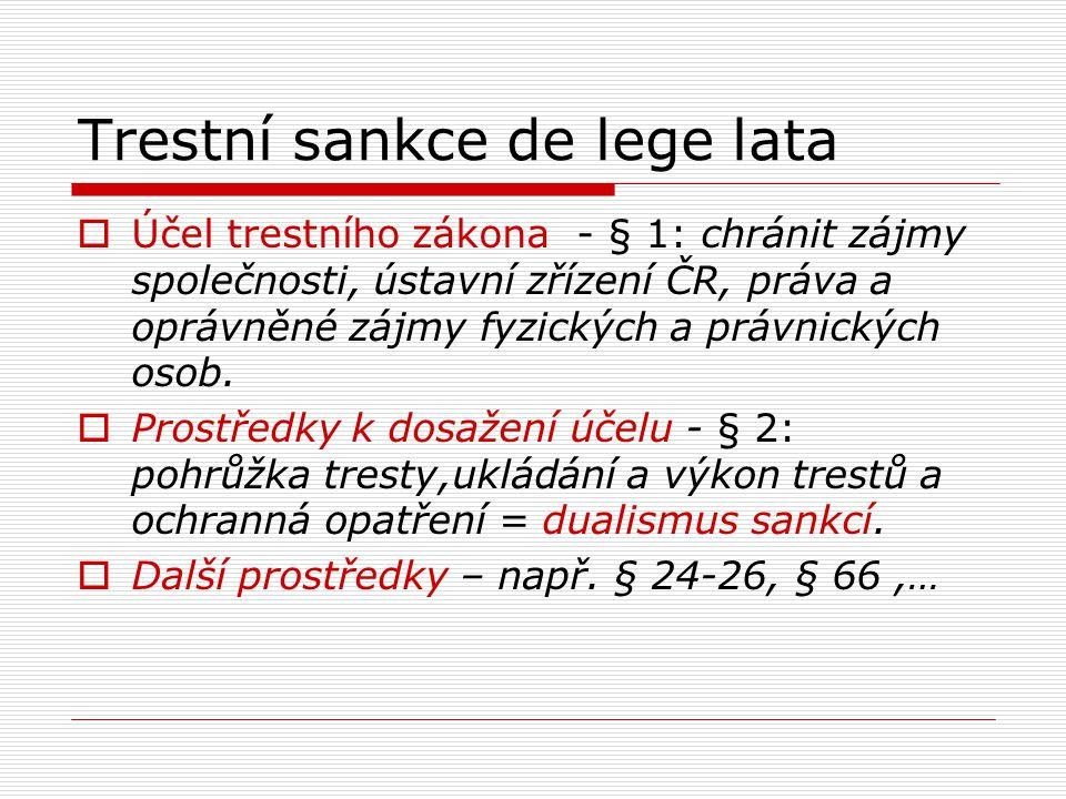 Trestní sankce de lege lata