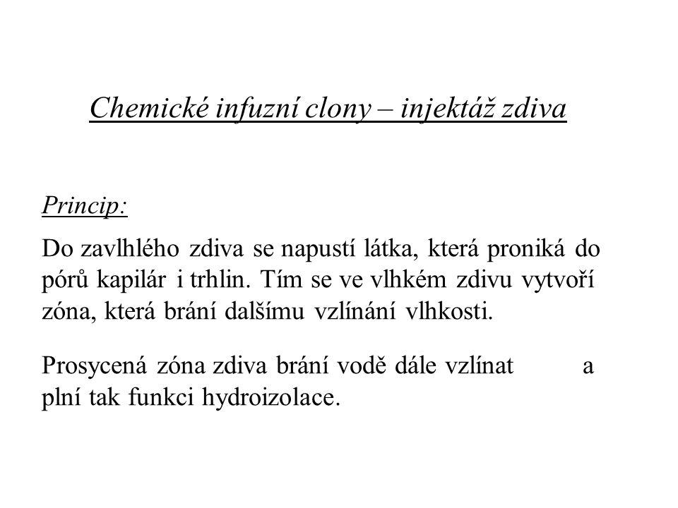 Chemické infuzní clony – injektáž zdiva