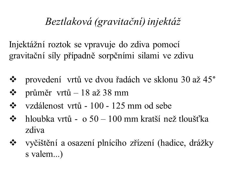 Beztlaková (gravitační) injektáž