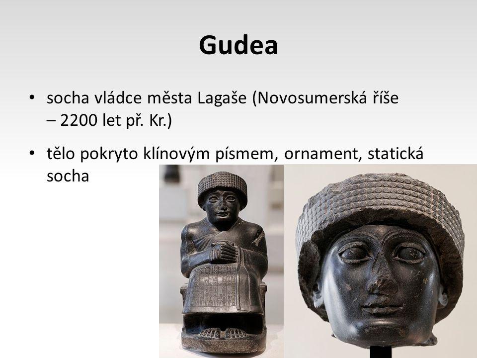 Gudea socha vládce města Lagaše (Novosumerská říše – 2200 let př. Kr.)