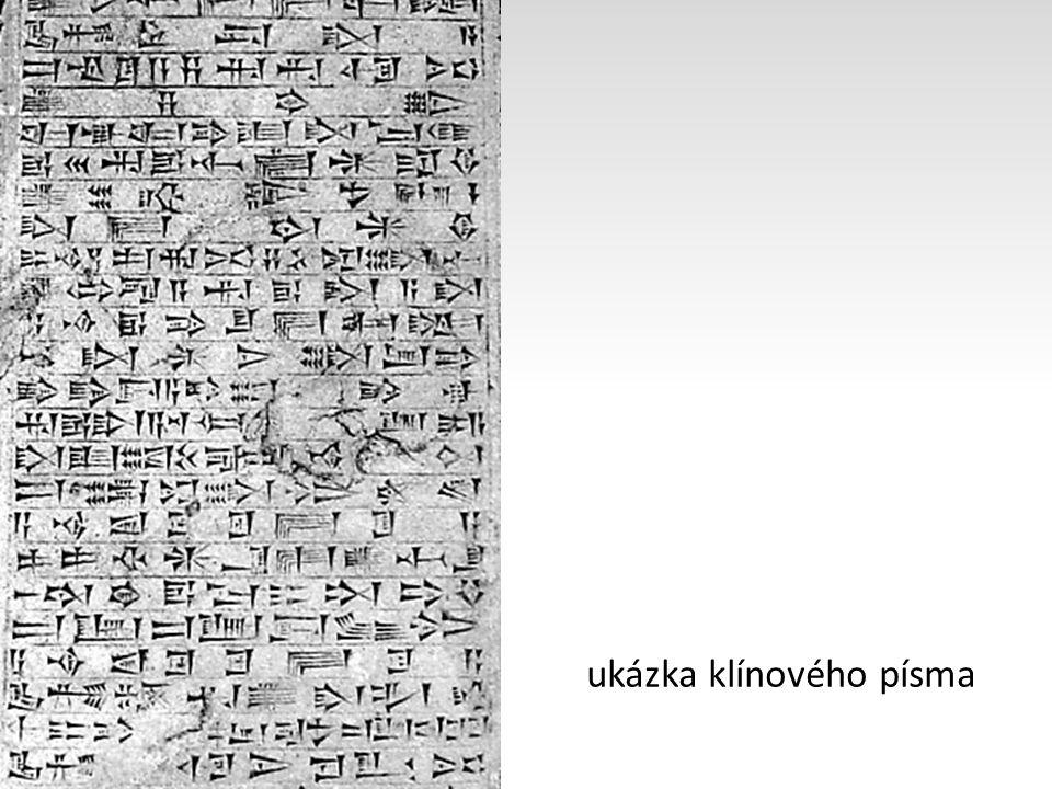 ukázka klínového písma