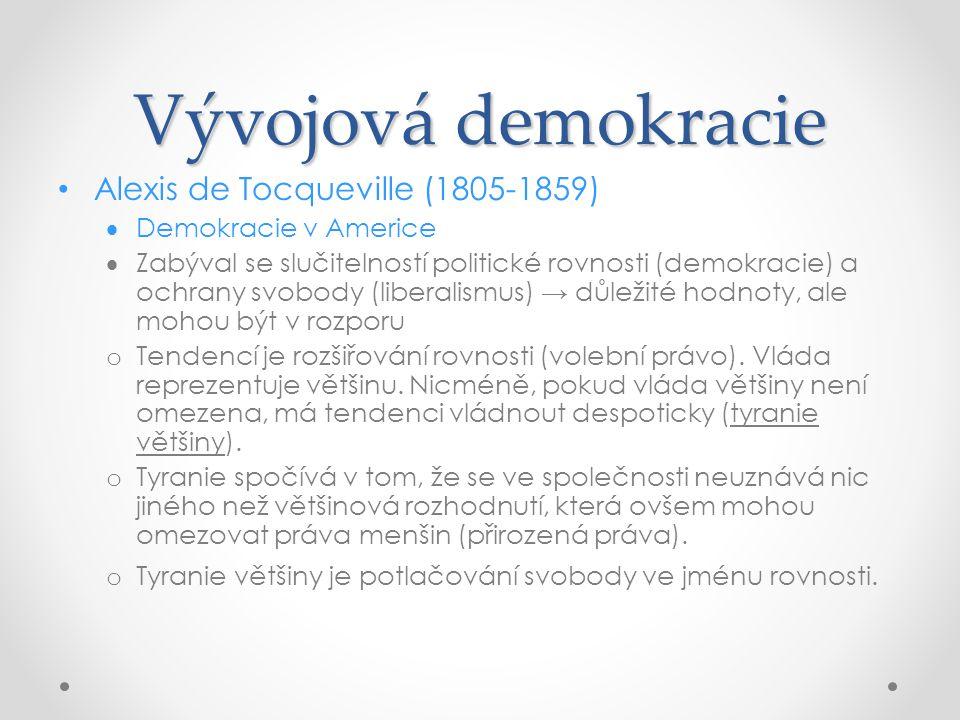 Vývojová demokracie Alexis de Tocqueville (1805-1859)