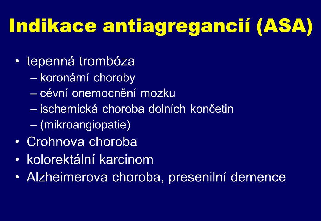 Indikace antiagregancií (ASA)