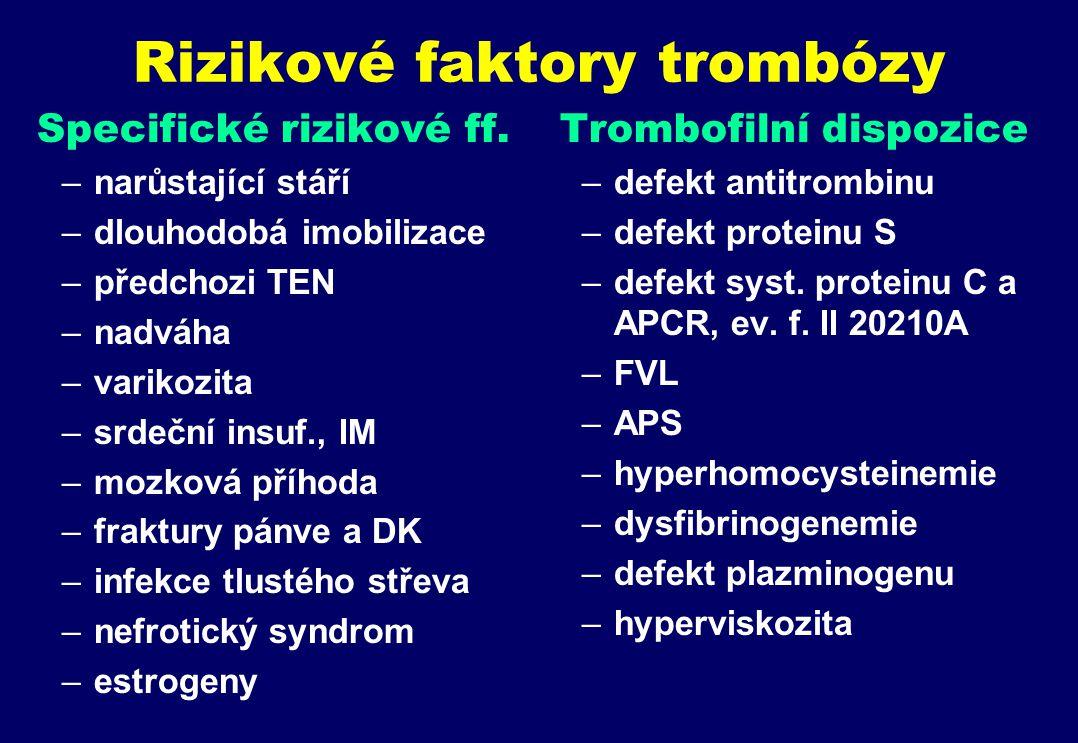 Rizikové faktory trombózy