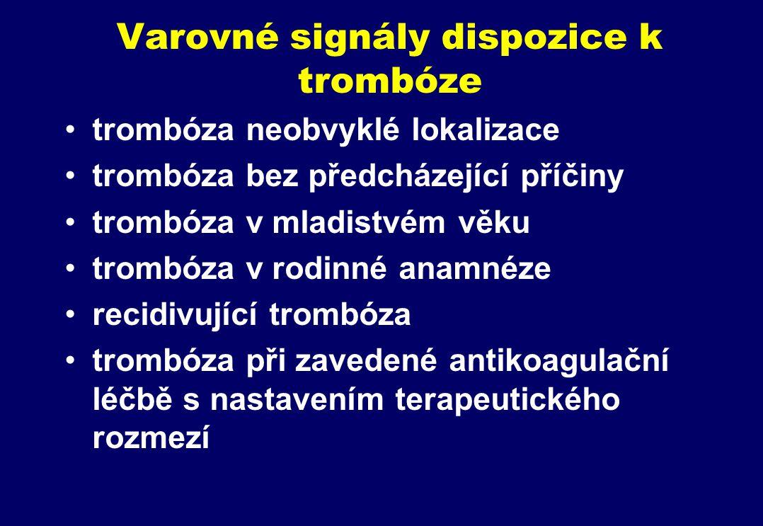 Varovné signály dispozice k trombóze