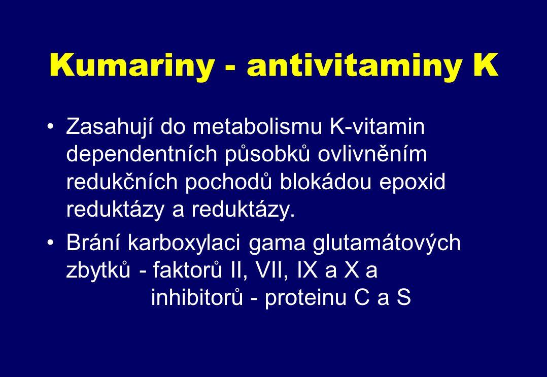 Kumariny - antivitaminy K