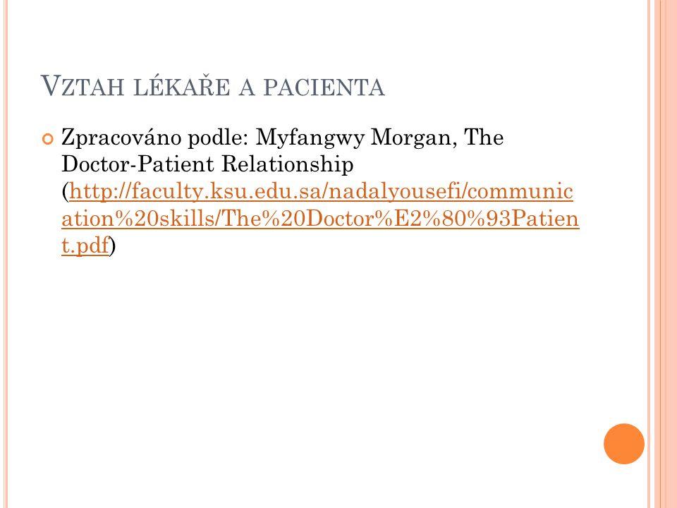 Vztah lékaře a pacienta