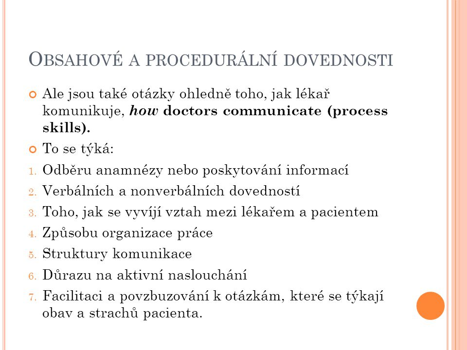 Obsahové a procedurální dovednosti