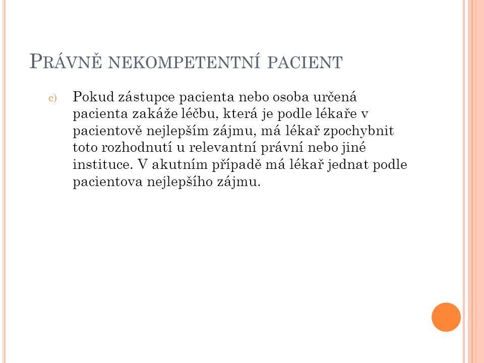 Právně nekompetentní pacient