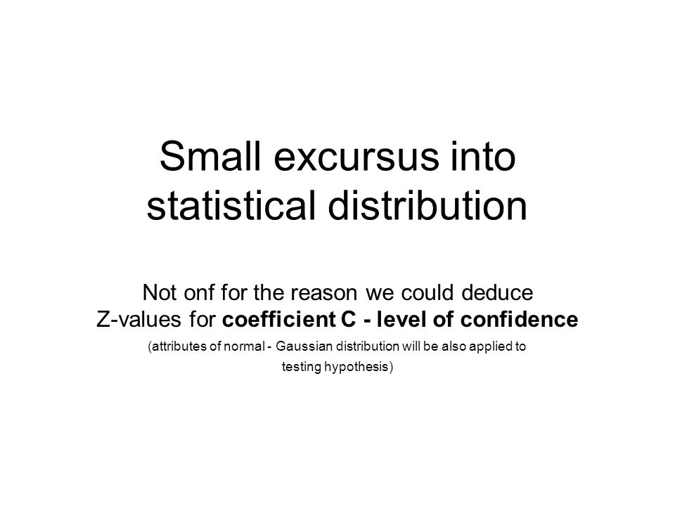 Small excursus into statistical distribution