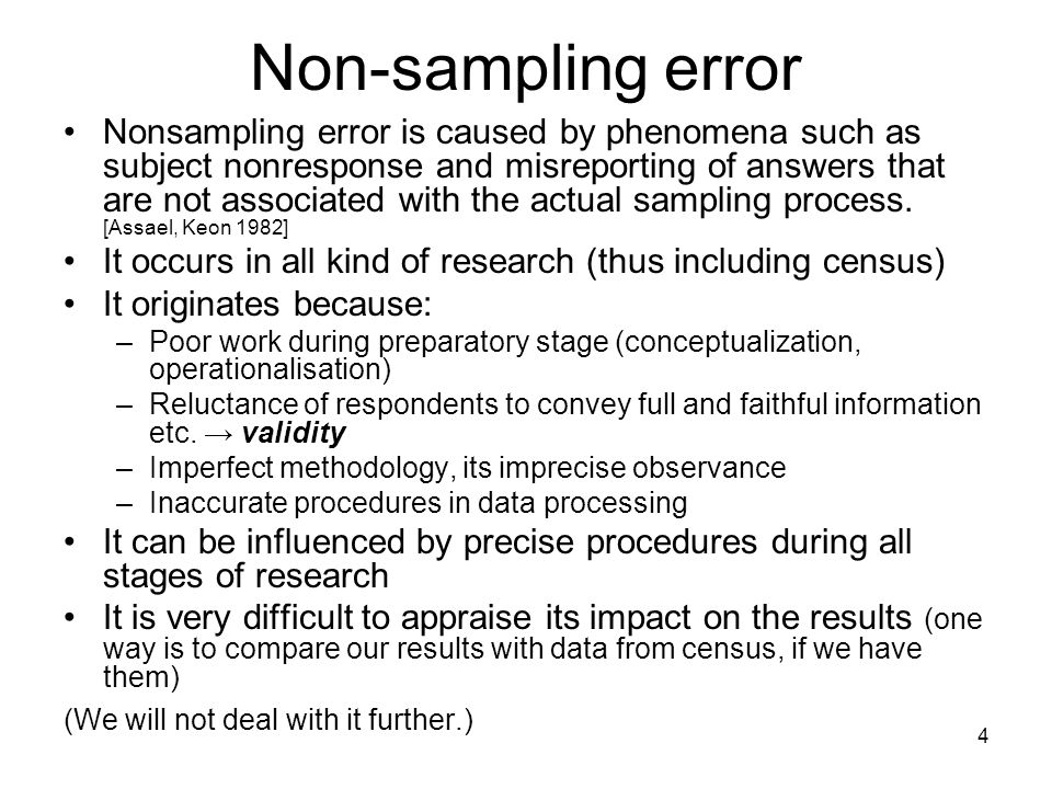 Non-sampling error
