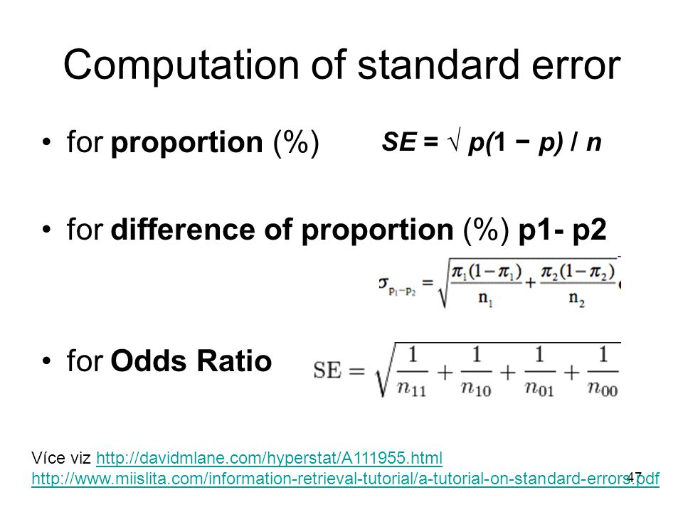 Computation of standard error