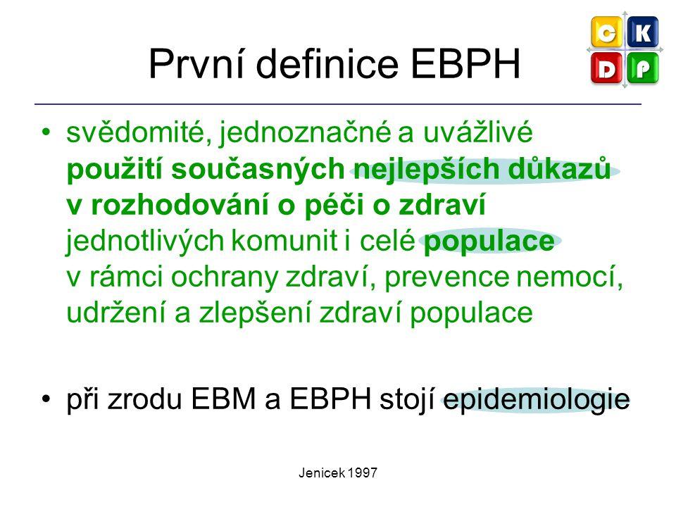 První definice EBPH
