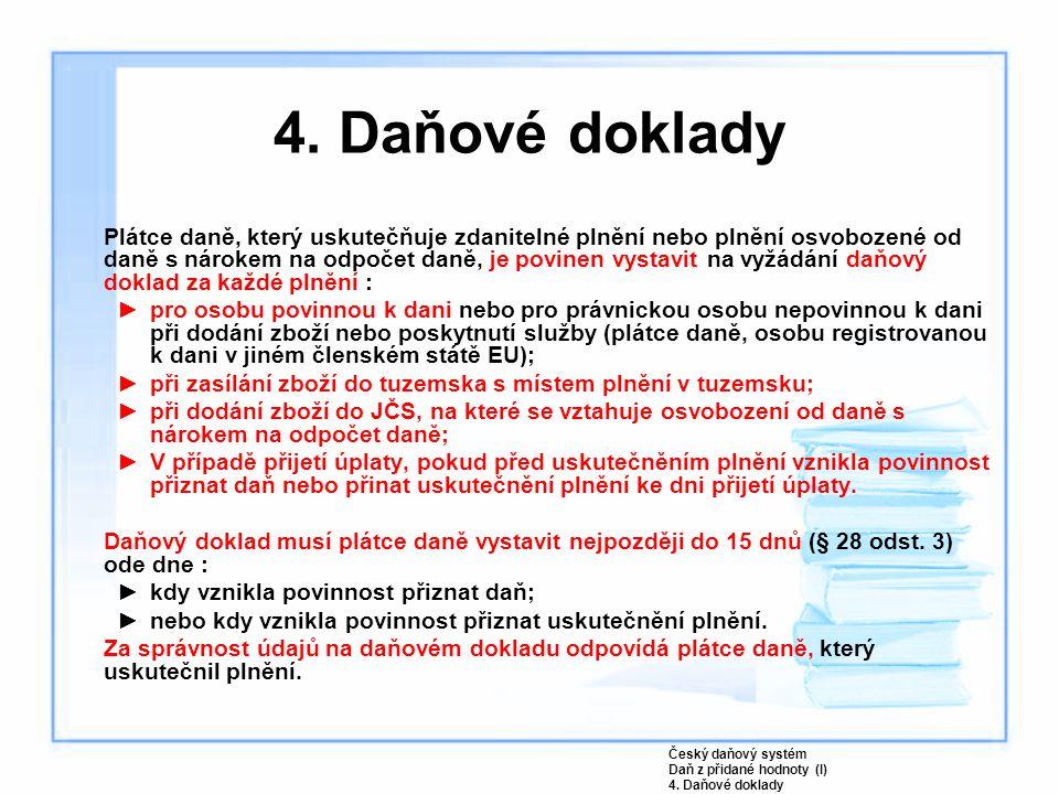 4. Daňové doklady