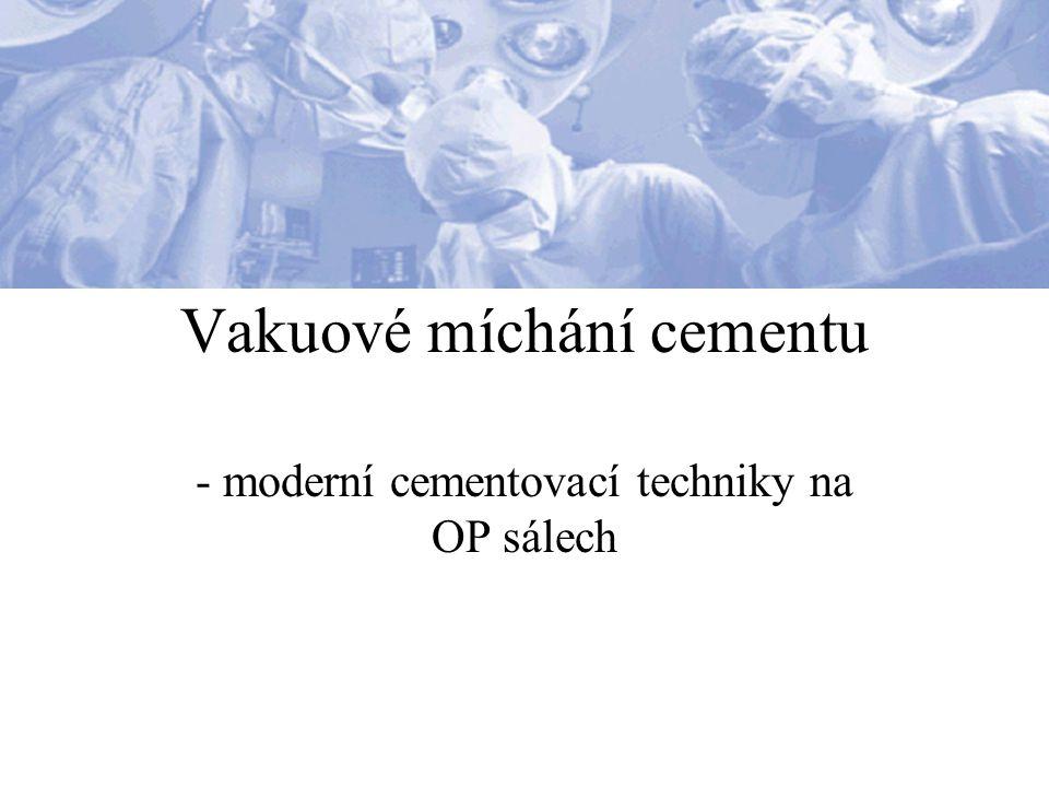 Vakuové míchání cementu