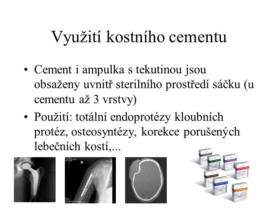 Využití kostního cementu