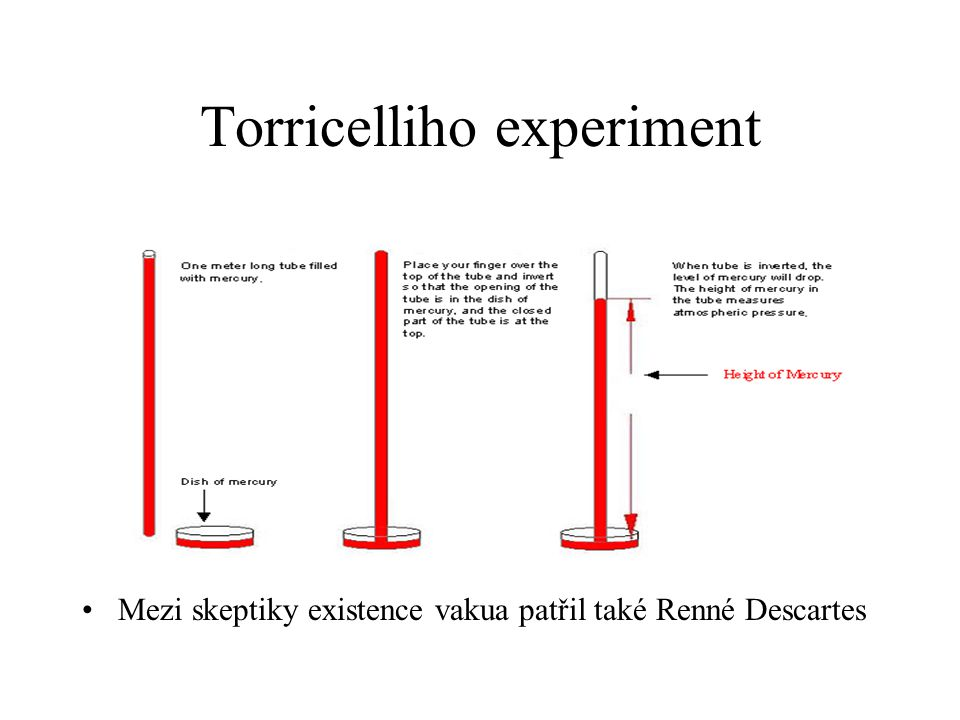 Torricelliho experiment