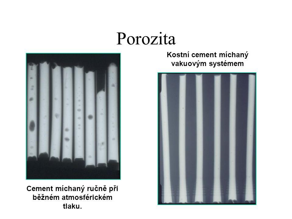 Porozita Kostní cement míchaný vakuovým systémem