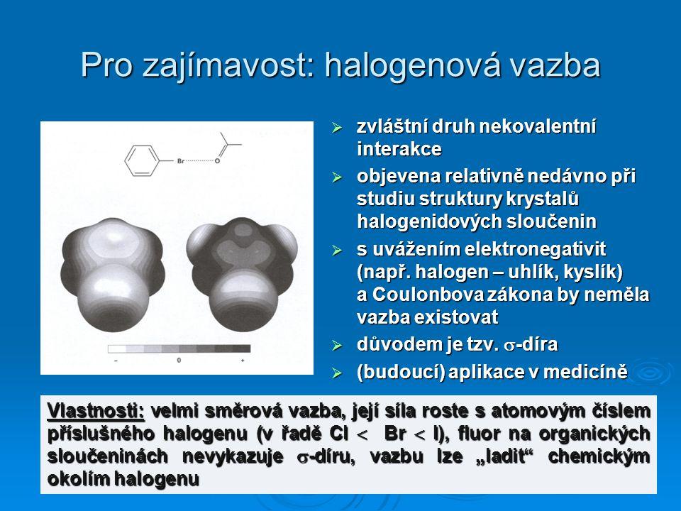 Pro zajímavost: halogenová vazba