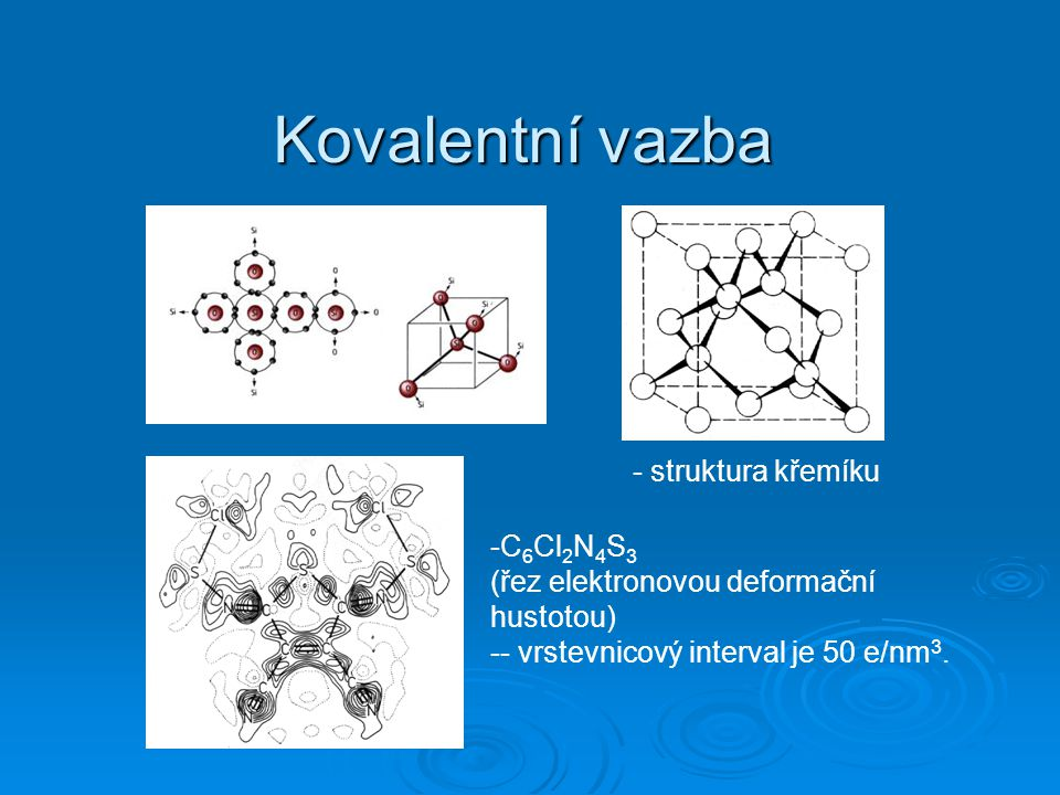 Kovalentní vazba - struktura křemíku