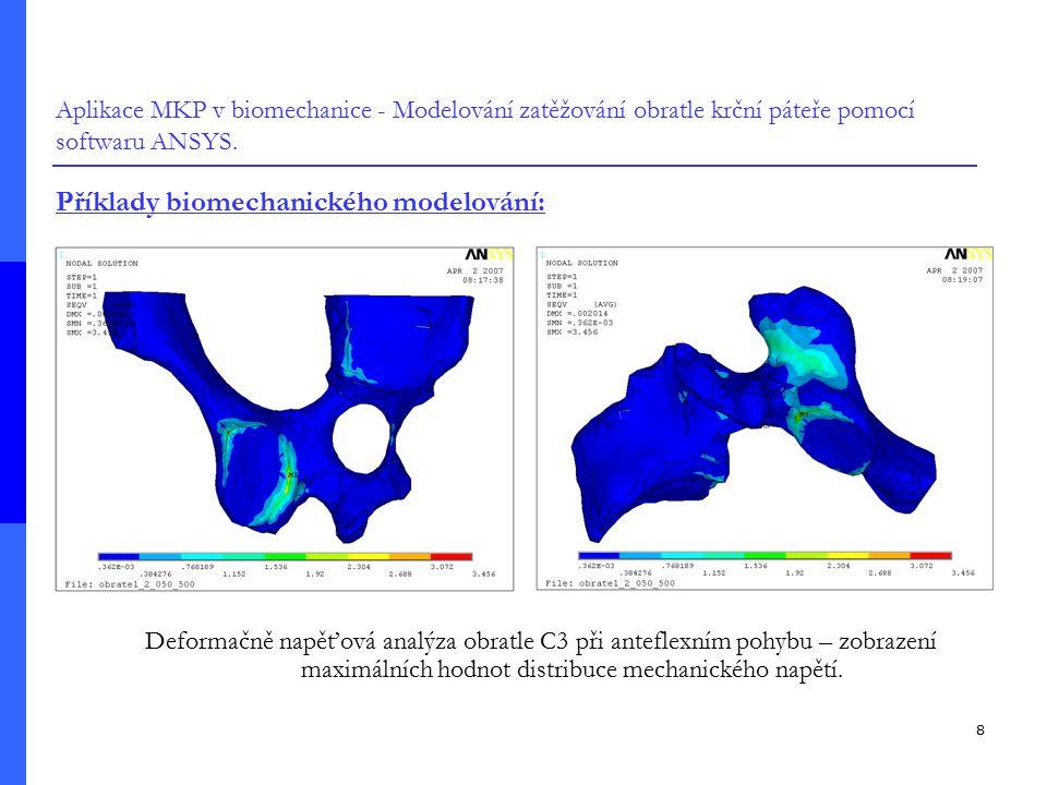 Příklady biomechanického modelování: