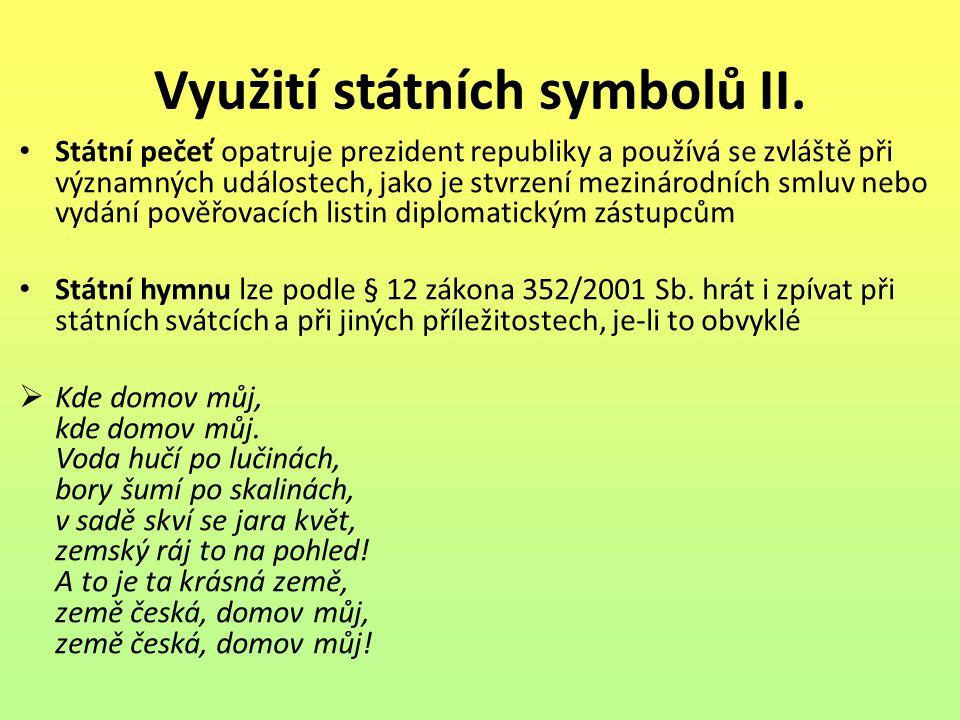 Využití státních symbolů II.