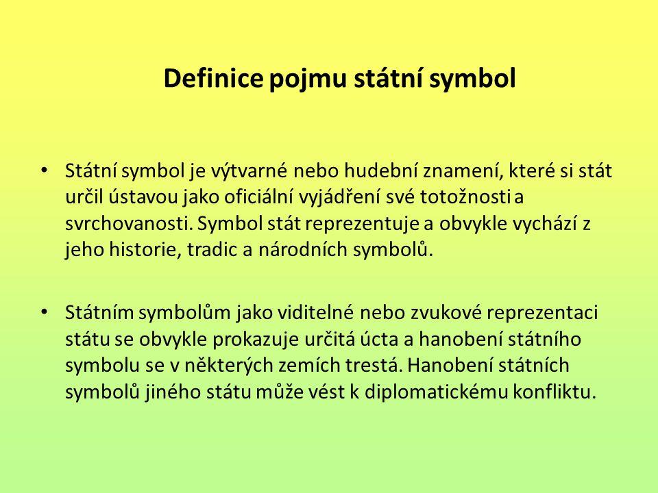 Definice pojmu státní symbol
