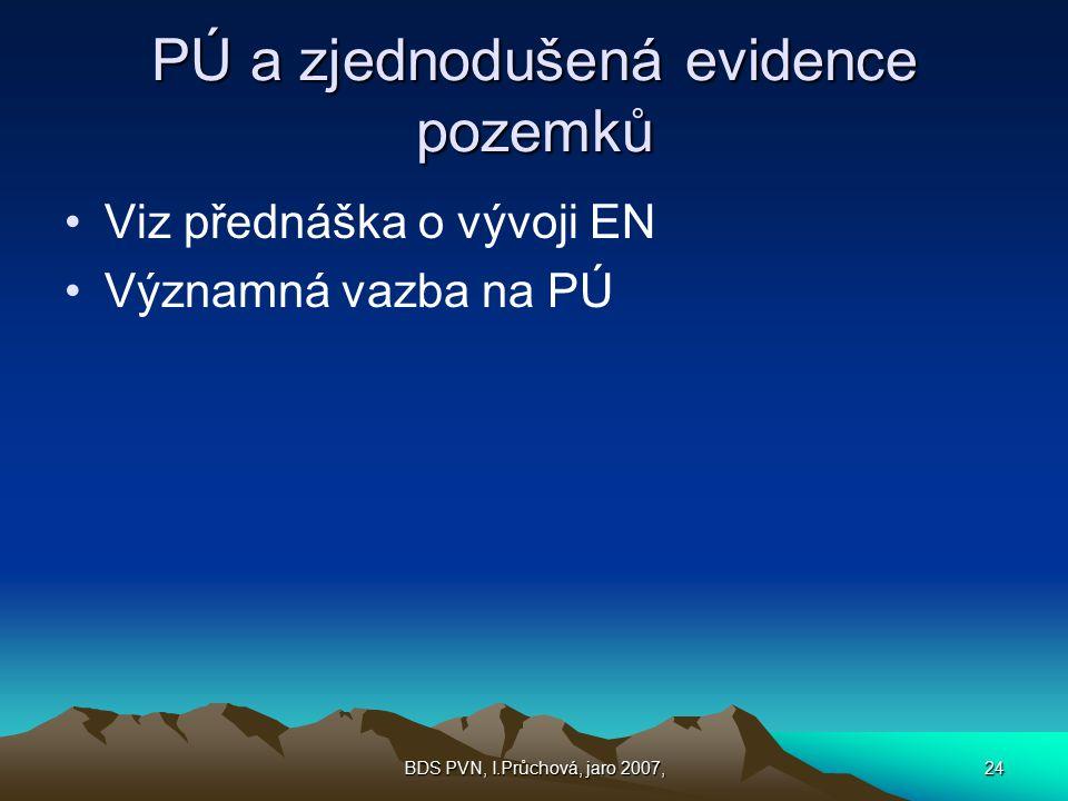 PÚ a zjednodušená evidence pozemků