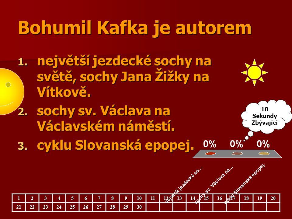 Bohumil Kafka je autorem