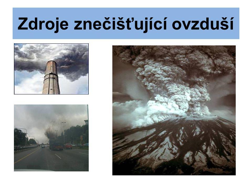Zdroje znečišťující ovzduší
