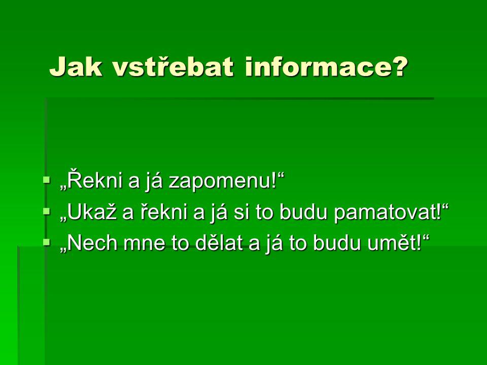 Jak vstřebat informace
