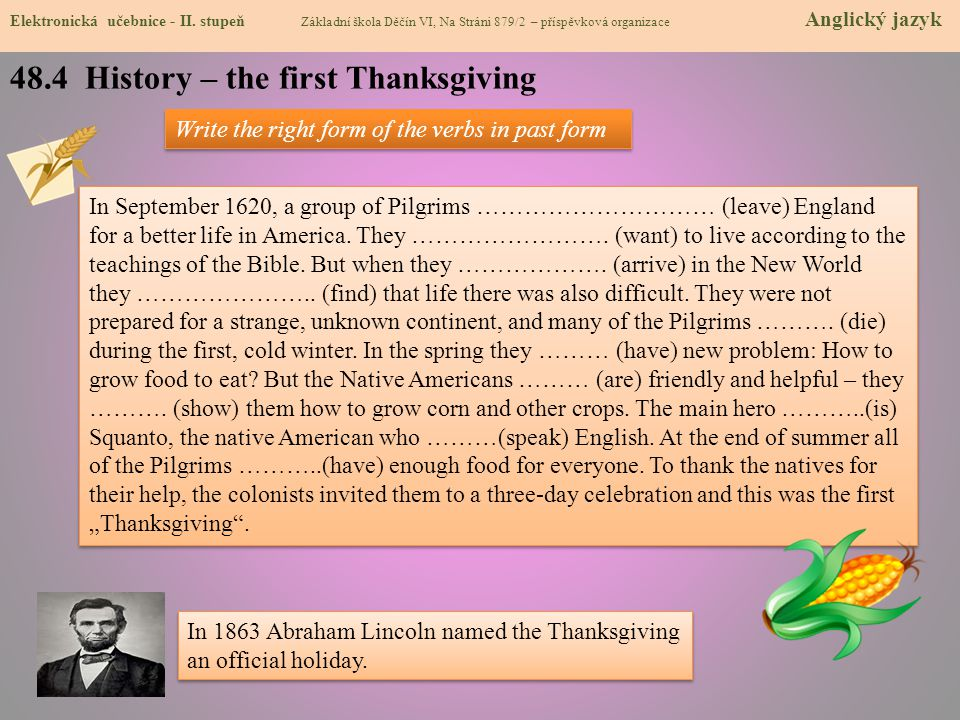 48.4 History – the first Thanksgiving