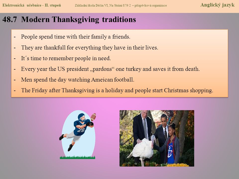 48.7 Modern Thanksgiving traditions