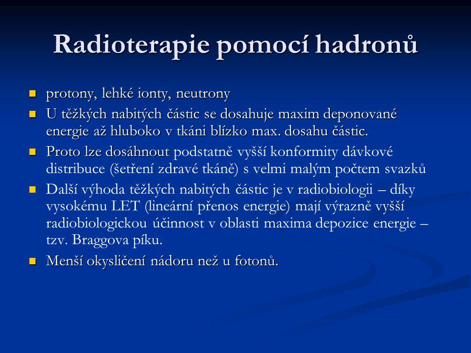 Radioterapie pomocí hadronů