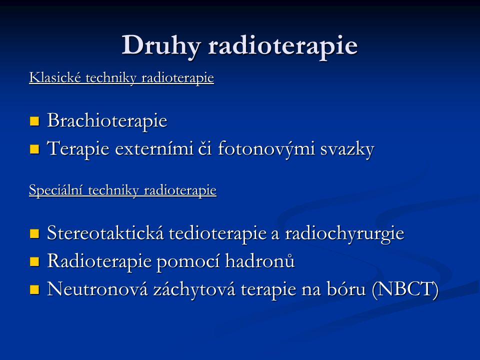 Druhy radioterapie Brachioterapie