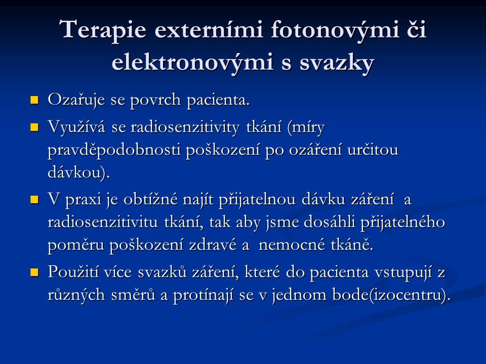 Terapie externími fotonovými či elektronovými s svazky