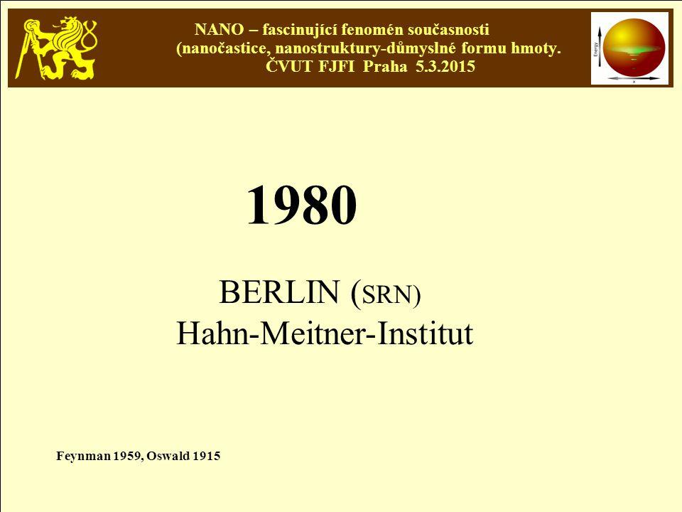 1980 BERLIN (SRN) Hahn-Meitner-Institut