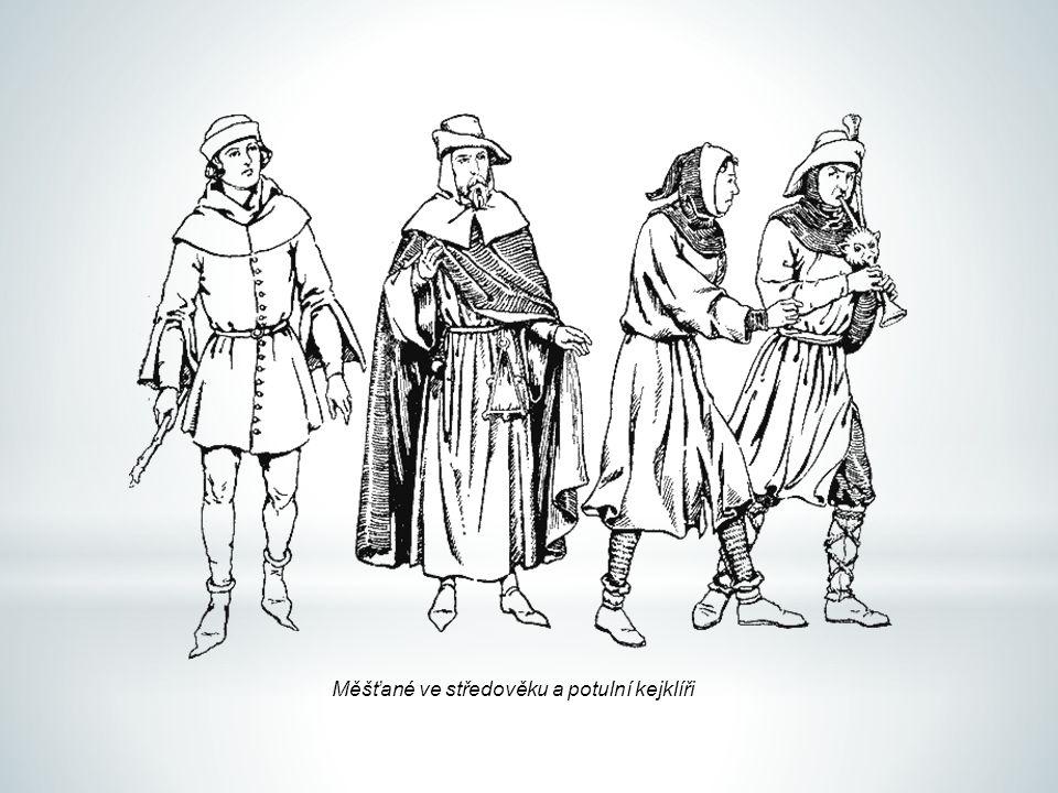 Měšťané ve středověku a potulní kejklíři