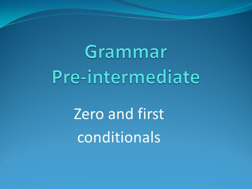 Grammar Pre-intermediate