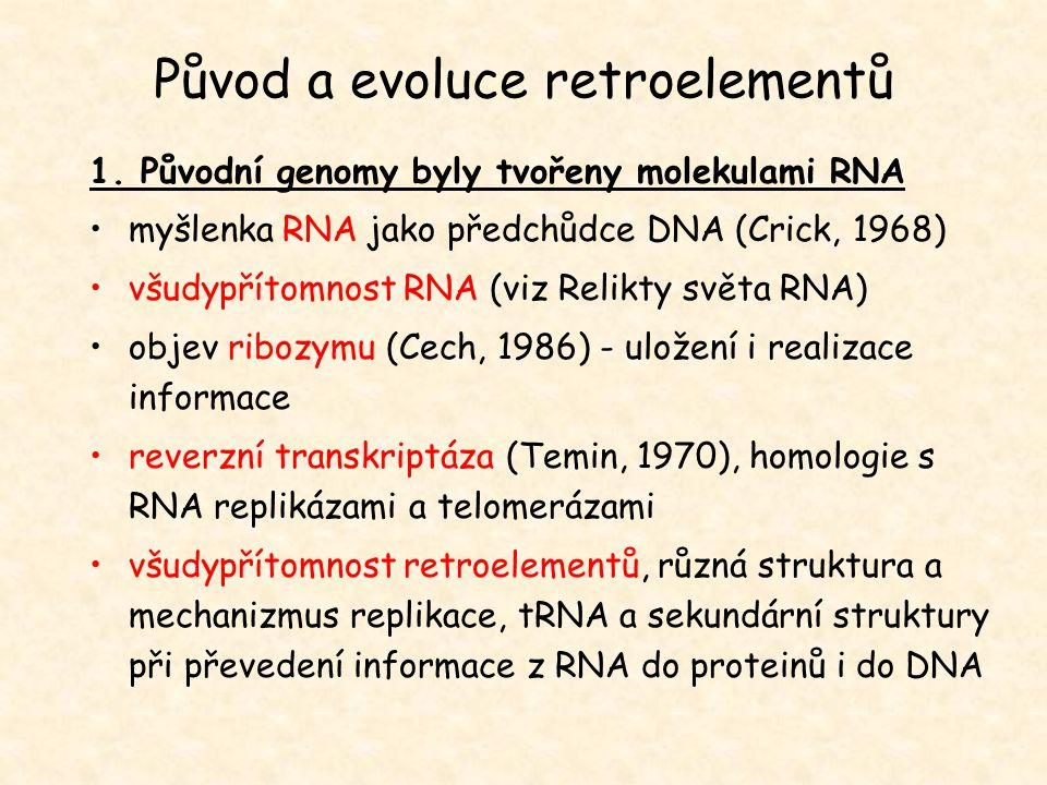 Původ a evoluce retroelementů