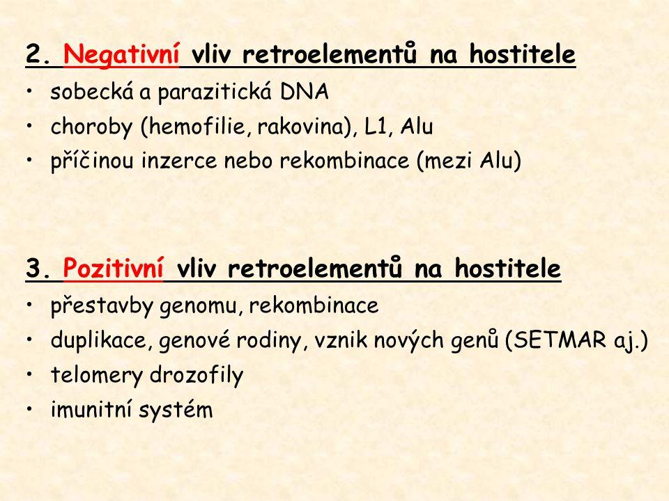 2. Negativní vliv retroelementů na hostitele