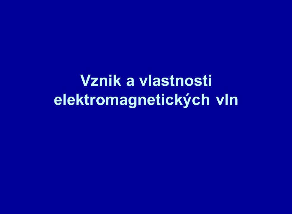Vznik a vlastnosti elektromagnetických vln