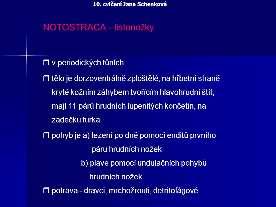 NOTOSTRACA - listonožky