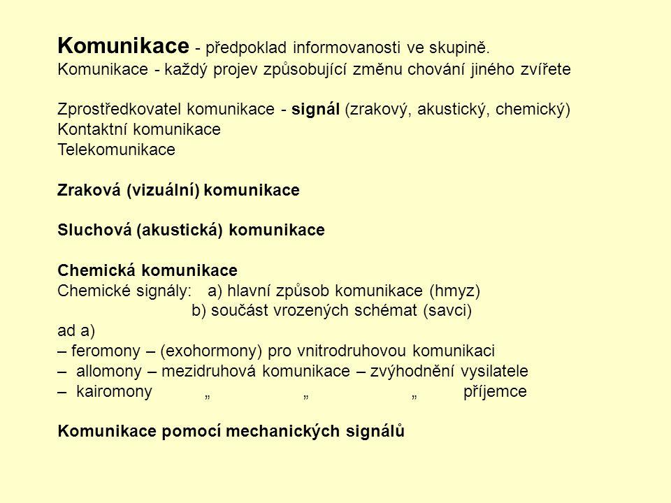 Komunikace - předpoklad informovanosti ve skupině.