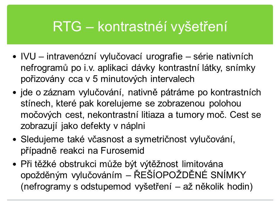 RTG – kontrastnéí vyšetření