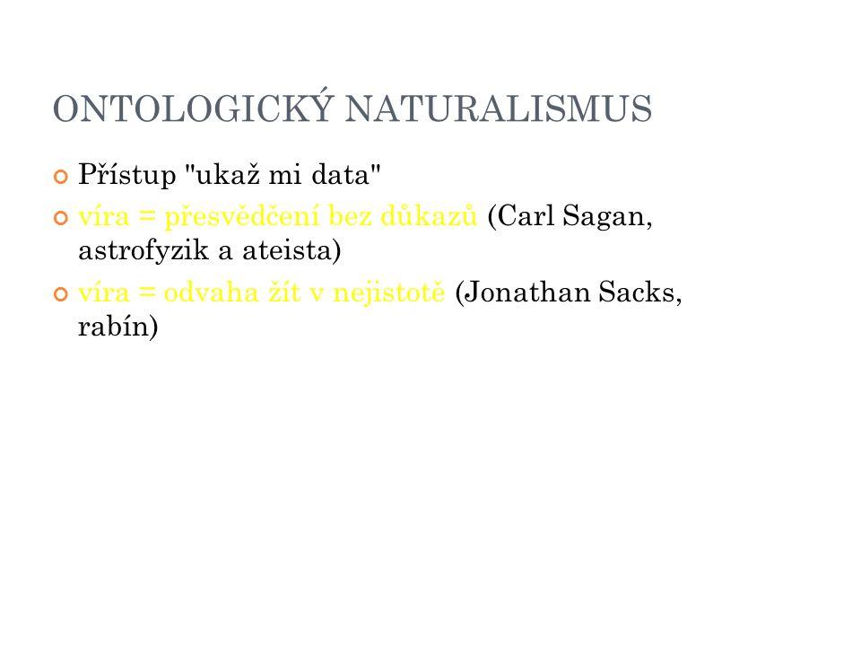ONTOLOGICKÝ NATURALISMUS