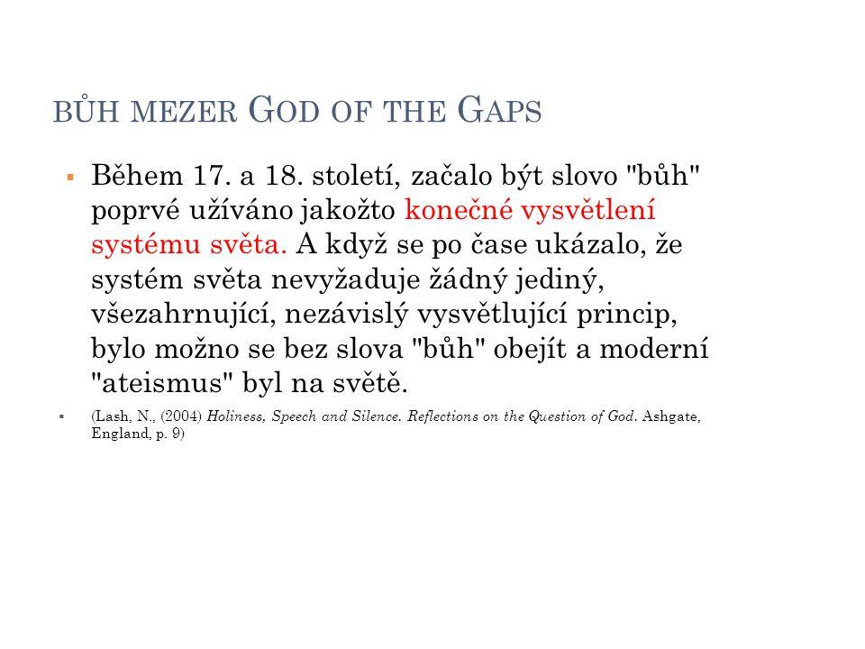 bůh mezer God of the Gaps