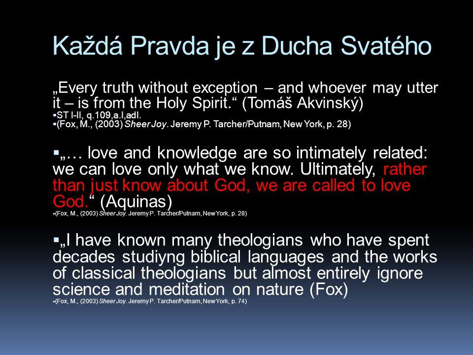 Každá Pravda je z Ducha Svatého