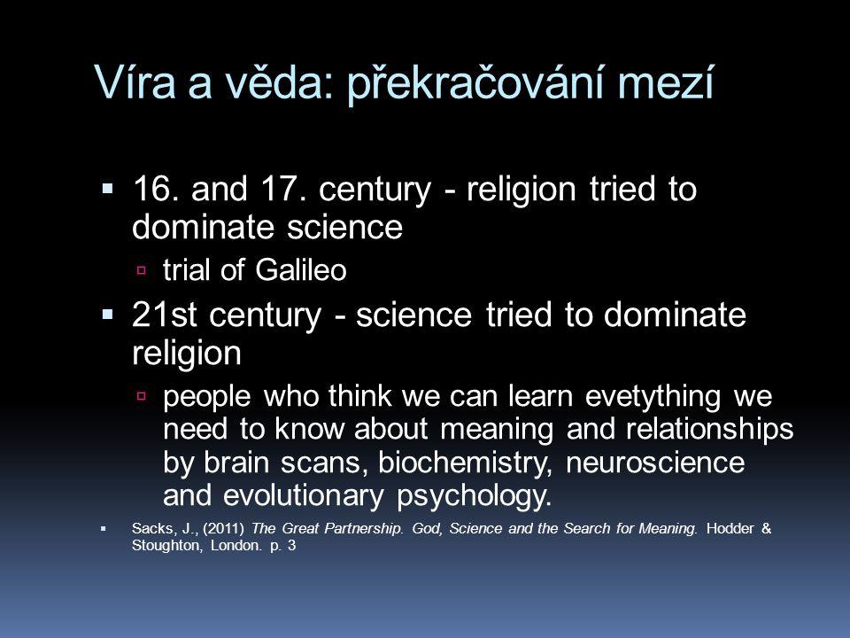 Víra a věda: překračování mezí